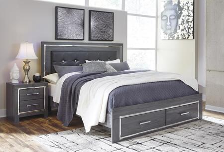 Signature Design by Ashley Lodanna B2145856S97 Bed Gray, B2145856S97 Main View