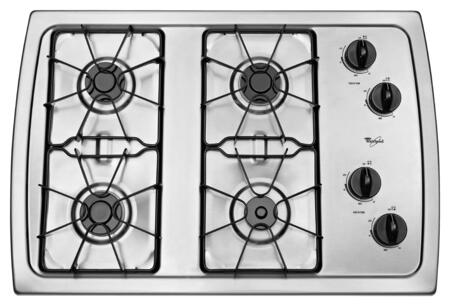 Whirlpool  W3CG3014XS Gas Cooktop Stainless Steel, W3CG3014XS Gas Cooktop