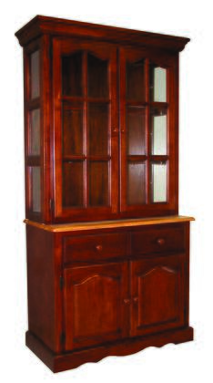 Sunset Trading Sunset Oak Selections DLU19BHNLO China Cabinet Brown, Main Image