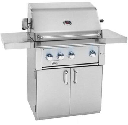 ALT36R-NG 36″ Alturi Freestanding Grill in Natural Gas with 945 sq. inch Cooking Area  3 Cast Red Brass Main Burner  1 Rotisserie Back Burner