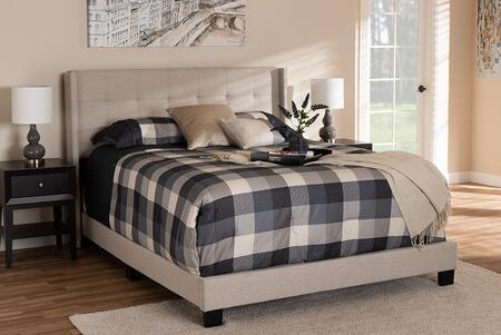 Baxton Studio Lisette CF8031BGREYKING Bed Gray, 8850 8851 8852 6