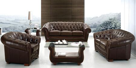 ESF 262 Series 2623LVCH Living Room Set Brown, 2623-LVCH