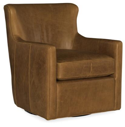 Hooker Furniture CC Series CC447SW088 Accent Chair Brown, Silo Image