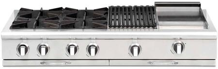 Capital Culinarian CGRT484BGN Gas Cooktop Stainless Steel, Main Image