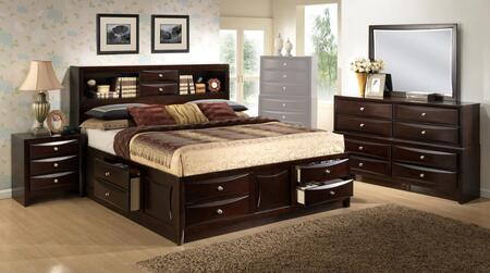Myco Furniture Oxford OX172KNMDR Bedroom Set Brown, OX172KNMDR Main Image