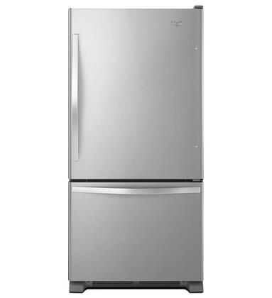 Whirlpool WRB322DMBM Bottom Freezer Refrigerator Stainless Steel, 1