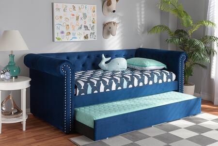Baxton Studio 168.5 lbs. ASHLEYNAVYBLUEDAYBED Bed Blue, 9394 8