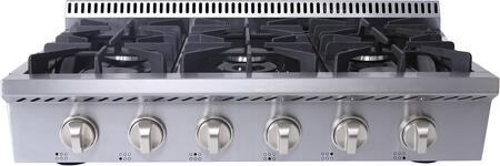 Thor Kitchen  HRT3618U Gas Cooktop Stainless Steel, Main Image