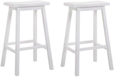Acme Furniture Gaucho 07311 Bar Stool White, 1