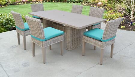 TK Classics COASTDTRECKIT6CARUBA Outdoor Patio Set, COAST DTREC KIT 6C ARUBA