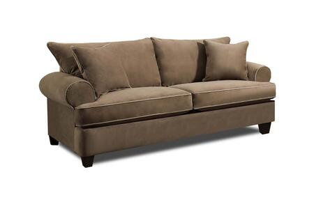 Montana Collection 182903-1014-S-AA 90″ Sofa with Rolled Arms  Decorative Pillows  Tapered Feet  Piped Stitching  Abbington Antler Fabric Upholstery