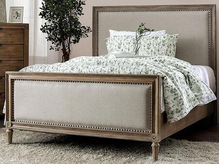 Furniture of America Janiya CM7535XBED Bed Brown, 1