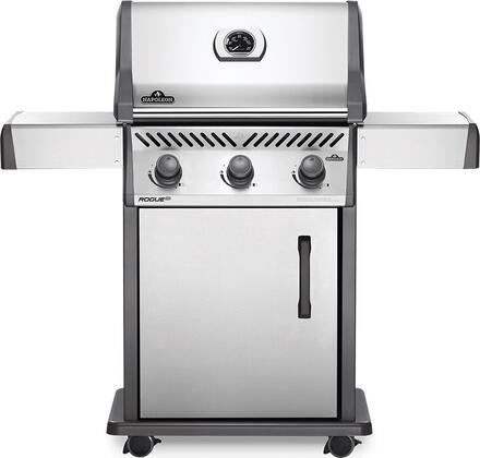 RXT425NSS-1 51″ Rogue Series XT 425 Natural Gas Freestanding Grill with 42000 BTU  570 sq. in. Cooking Area and Cast Iron Grids in Stainless