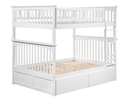 Atlantic Furniture Columbia AB55542 Bed White, AB55542 SILO BD2 30