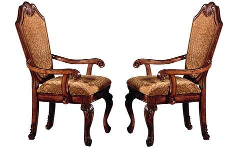 Acme Furniture Chateau de Ville 04078 Dining Room Chair Brown, Arm Chair