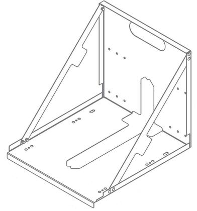 01085455 Wall Mount Bracket for Horizon Elite 1010A/W and 1410A/W Series RIDE Model Ice