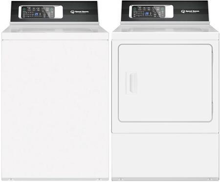 Speed Queen  887420 Washer & Dryer Set White, 1