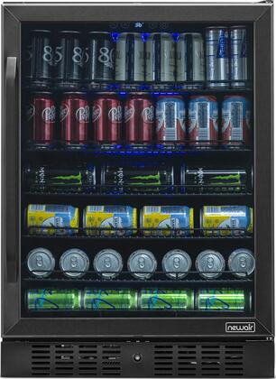 NBC177BS00 24″ Beverage Center with 177 Can or 5.3 u. ft. Capacity  Digital Temperature Readout  Triple Pane Glass Door  in Black Stainless