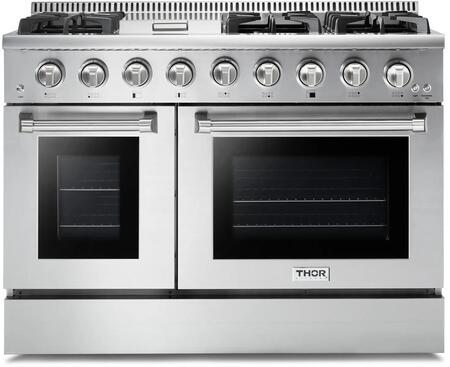 Thor Kitchen HRG4808U Freestanding Gas Range Stainless Steel, HRG4808U Professional Gas Range