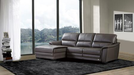 American Eagle Furniture EK-L046 EKL046RTPE Sectional Sofa Gray, Main Image