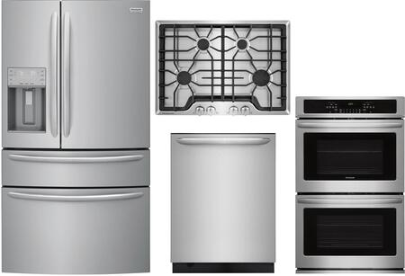 Frigidaire  1010185 Kitchen Appliance Package Stainless Steel, main image
