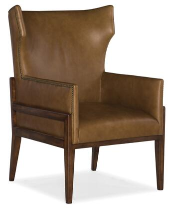 Hooker Furniture CC Series CC322088 Accent Chair Brown, Silo Image