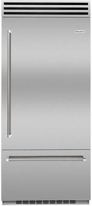 BlueStar  BBB36R2CF Bottom Freezer Refrigerator Custom Color, BBB36R2CF Bottom Freezer Refrigerator