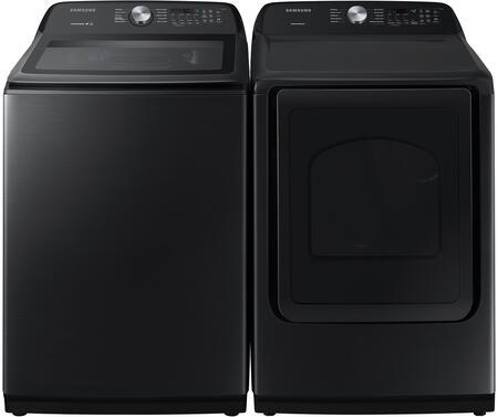 Samsung  1439382 Washer & Dryer Set Black Stainless Steel, 1