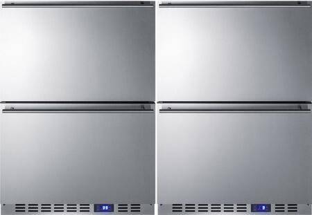 Summit Classic 723948 Drawer Refrigerator Stainless Steel, Main Image