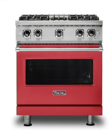 Viking 5 Series VGR5304BSMLP Freestanding Gas Range Red, VGR5304BSMLP Gas Range