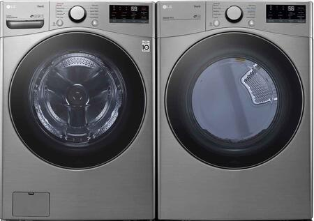 LG  1289261 Washer & Dryer Set Graphite Steel, 1