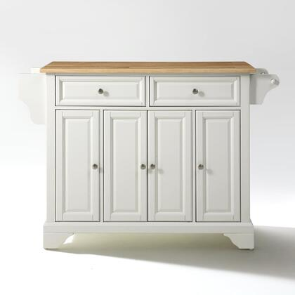 Lafayette Collection KF30001BWH Wood Top Island/Cart in White
