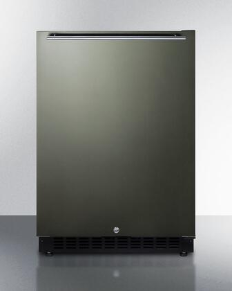 Summit  AL54KSHH Compact Refrigerator Black Stainless Steel, Main Image