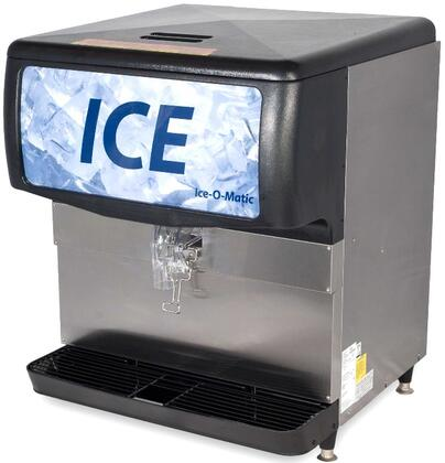 Ice-O-Matic  IOD200 Ice Bins and Dispenser Stainless Steel, Angled Front and Side View