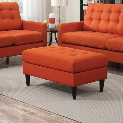 Benzara  BM183006 Living Room Ottoman Orange, BM183006