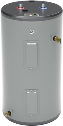 30S10BAM 30 Gallon Electric Water Heater with Two 5500 Watts Heating Elements  Inlet Tube and Brass Drain Valve in - GE GE30S10BAM