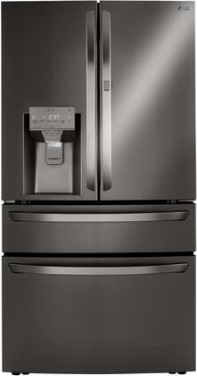 LG  LRMDS3006D French Door Refrigerator Black Stainless Steel, LRMDS3006D Front
