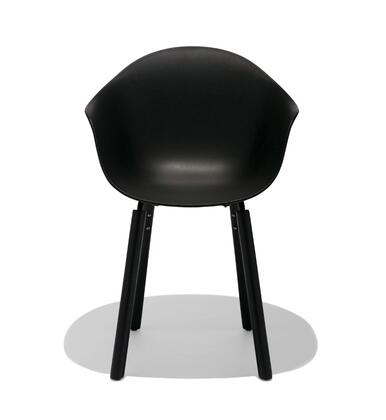 TA Collection TO-1733B-1502B Upholstered Armchair/Er Base Black Powder Coated/Black