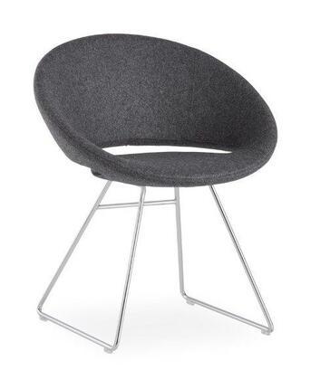 Delancey 100-BT-PN- DGW-CH Sled Chair in Dark Grey