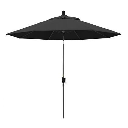 California Umbrella Pacific Trail GSPT908302SA08 Outdoor Umbrella Black, GSPT908302 SA08
