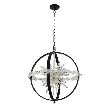 Angelo 033651-050-FR001 26″ Pendant in Matte Black w/ Polished Silver Finish with Firenze
