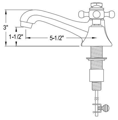 Water Creation  F2000901ML Faucet , Diagram
