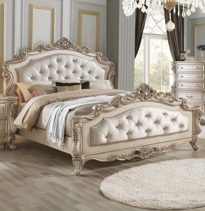 Acme Furniture Gorsedd 27440Q Bed White, Lifestyle View
