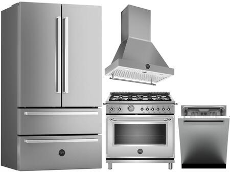 Bertazzoni  1128193 Kitchen Appliance Package Stainless Steel, Main image