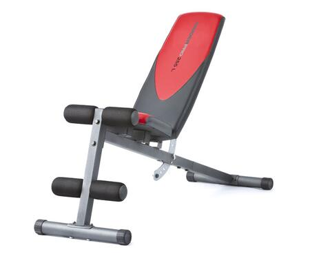 Weider Pro 255 L WEBE49310 Freeweight Bench Red, Model