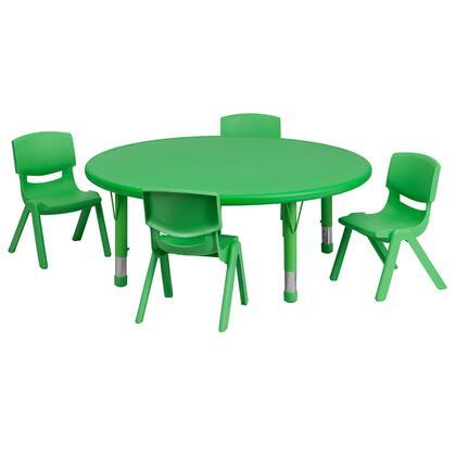 Flash Furniture YUYCX00532ROUNDTBLGREENEGG Kid Table Green, 1