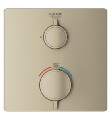 Grohtherm 24110EN0 Single Function 2-Handle Thermostatic Trim  in Brushed