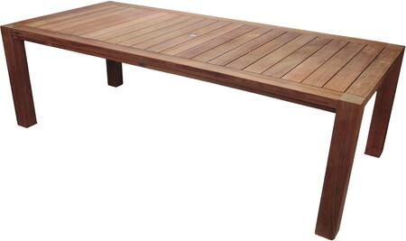 Royal Teak Collection Comfort COMF96 Outdoor Patio Table Brown, COMF96 Main Image