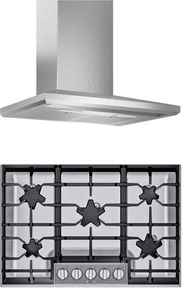 2 Kitchen Appliances package with SGSP305TS 30″ Gas Cooktop and HMCB30WS 30″ Wall Mount Convertible Hood in Stainless