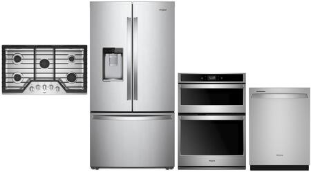 Whirlpool  1010018 Kitchen Appliance Package Stainless Steel, Main Image